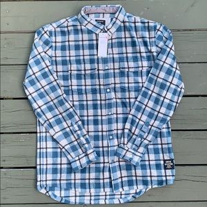 Quiksilver Surf days long sleeve flannel NWT